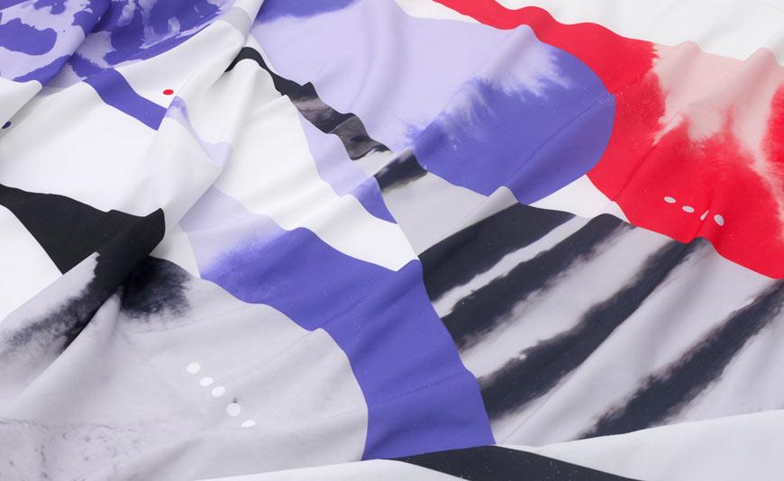 Drops textile design