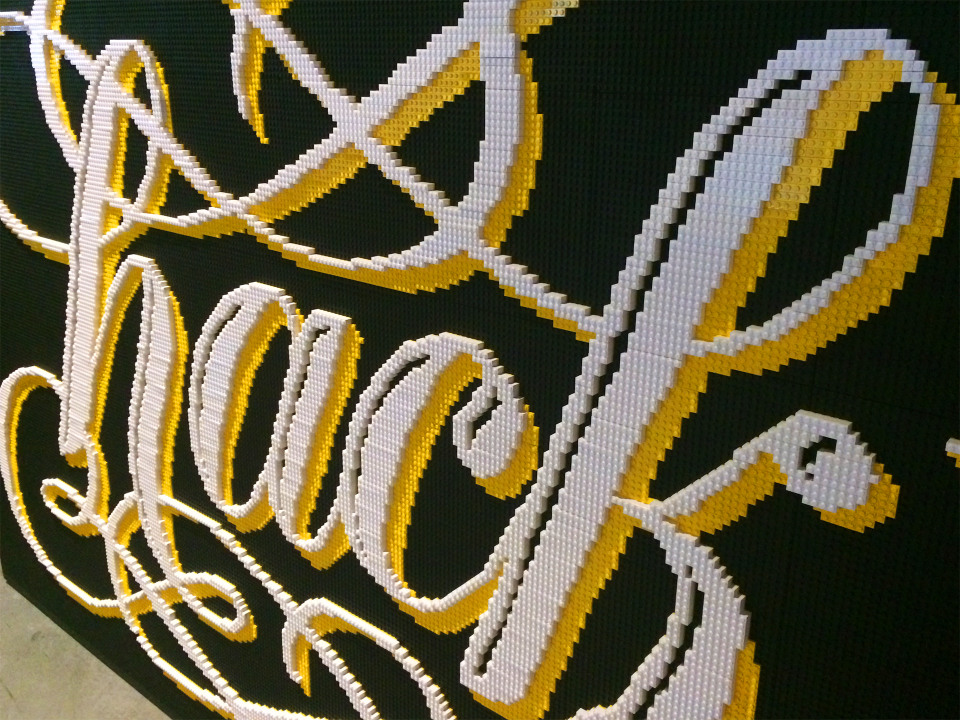 LEGO lettering by Alice Lee, via Badass Lady Creatives