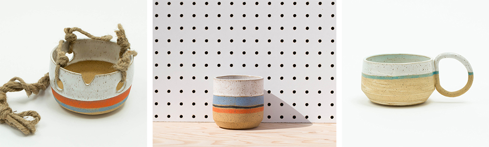 Tactile Matter, ceramics by Kenesha Sneed | via Badass Lady Creatives