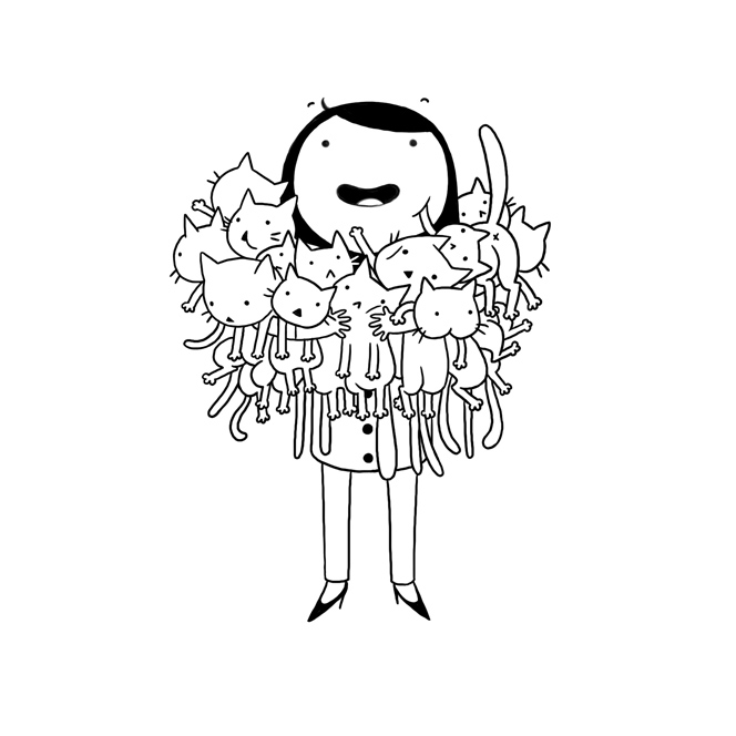 Cat Lady - Personal illustration