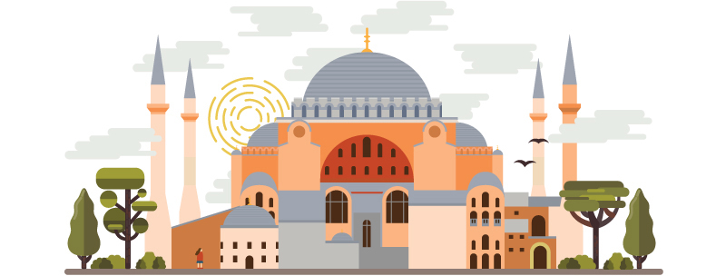 Hagia Sophia—likely familiar to those who took art history classes.
