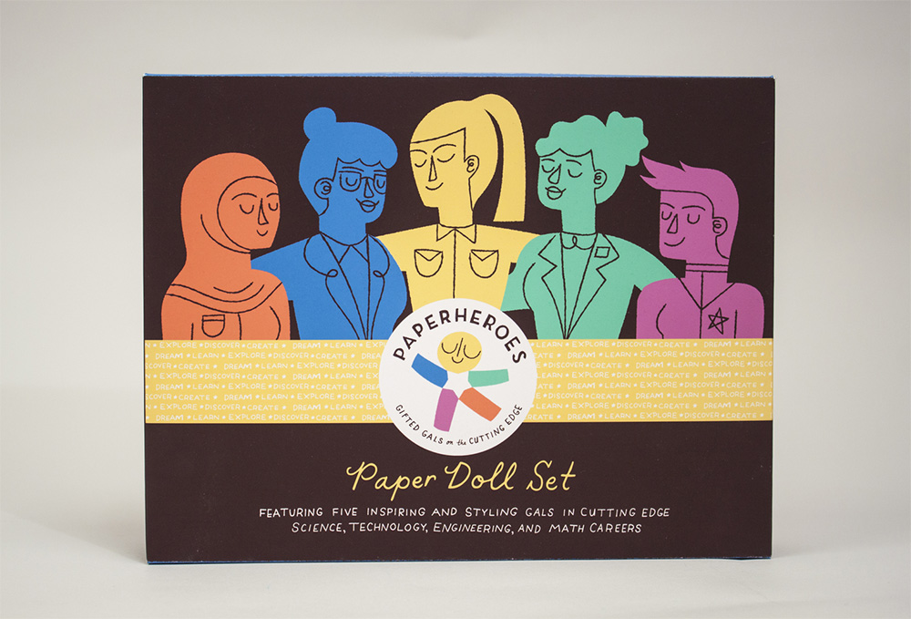 """Paperheroes"", illustrated women in STEM by Steph Werning"
