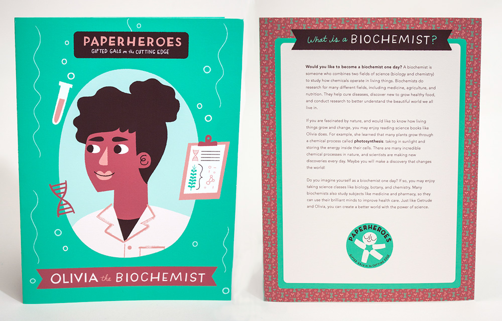 """""""Paperheroes"""", illustrated women in STEM by Steph Werning"""