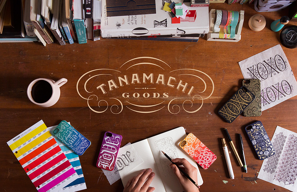 Branding/logo system for Tanamachi Goods ( a Dana Tanamachi collab line with Target) • Lettering, design • Art direction: Dana Tanamachi