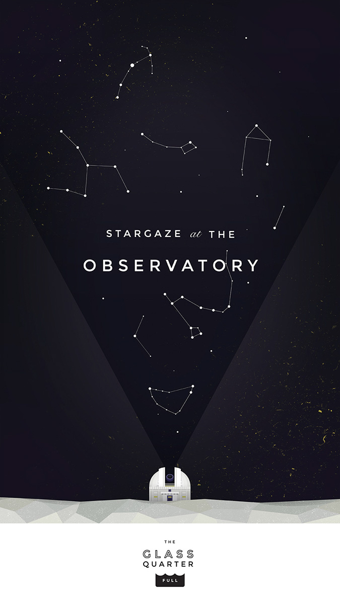 """Stargaze at the Observatory"" illustration by Elen Winata, via Badass Lady Creatives"