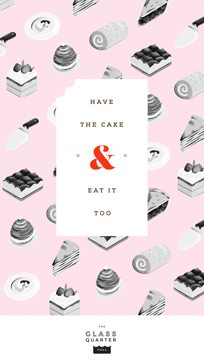 """Have the Cake and Eat it Too"" illustration by Elen Winata, via Badass Lady Creatives"