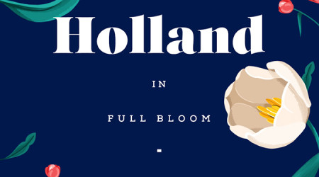 """Vist Holland in full bloom"" illustration by Elen Winata, via Badass Lady Creatives"