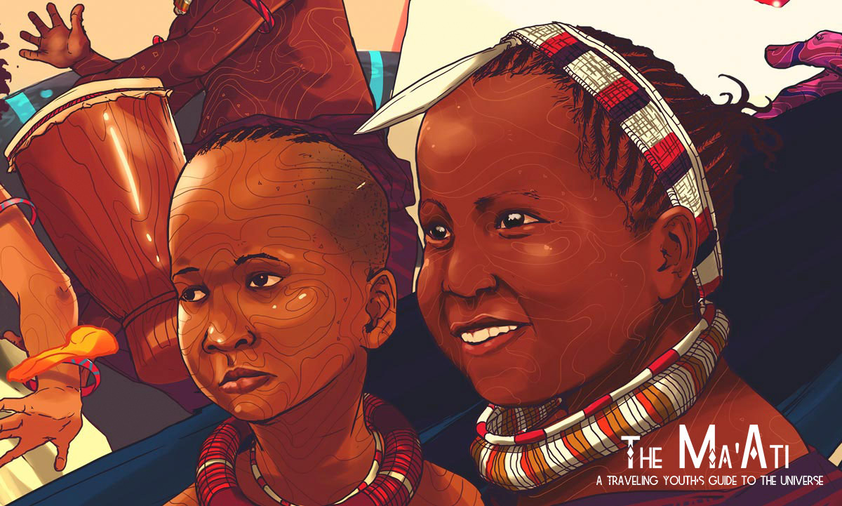 The Ma'ati illustration by Taj Francis