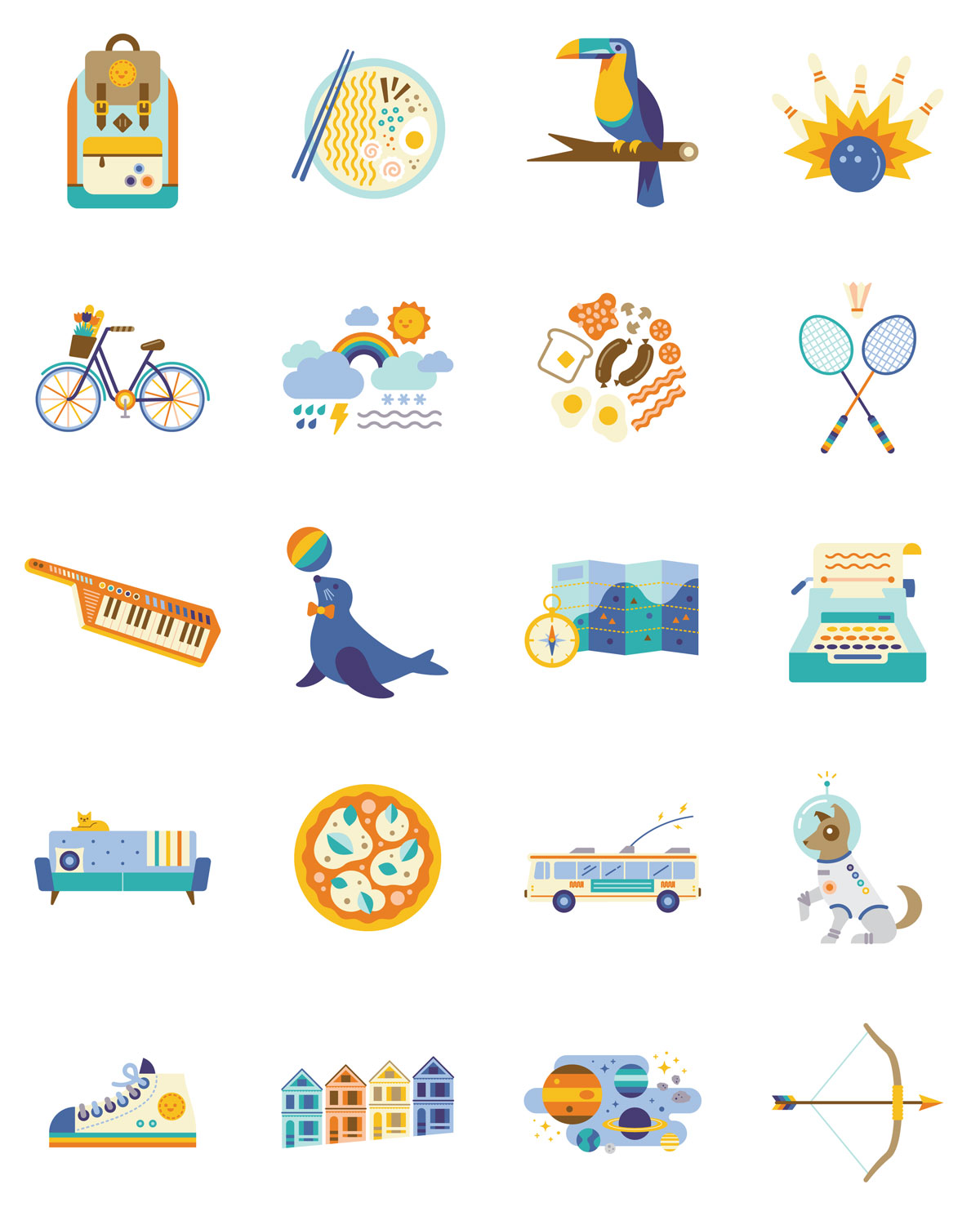Airbnb brand concept illustrations by Helen Tseng