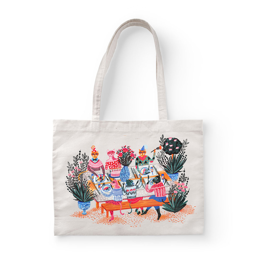 Illustrated tote bag by Manuja Waldia