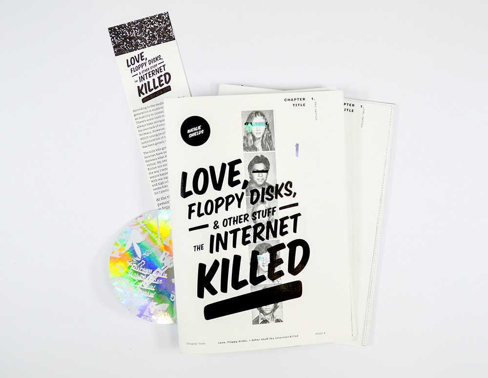 """Love, Floppy Disks, & Other Stuff the Internet Killed"", an artist book by Natalie Shields"