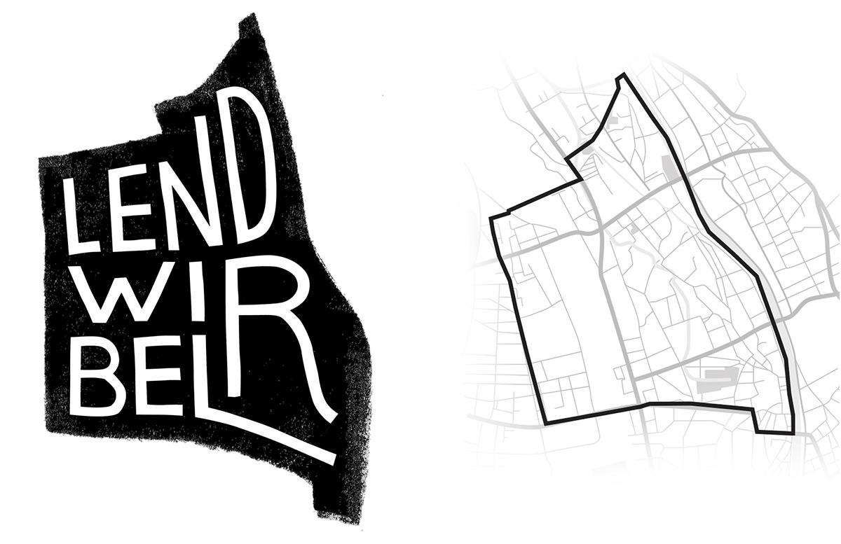 Lendwirbel logo, art directed by Stefanie Brückler