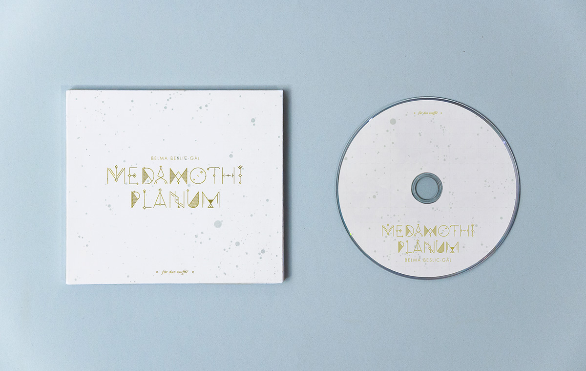 Medamothi Planum CD packaging and CD, designed by Stefanie Brückler