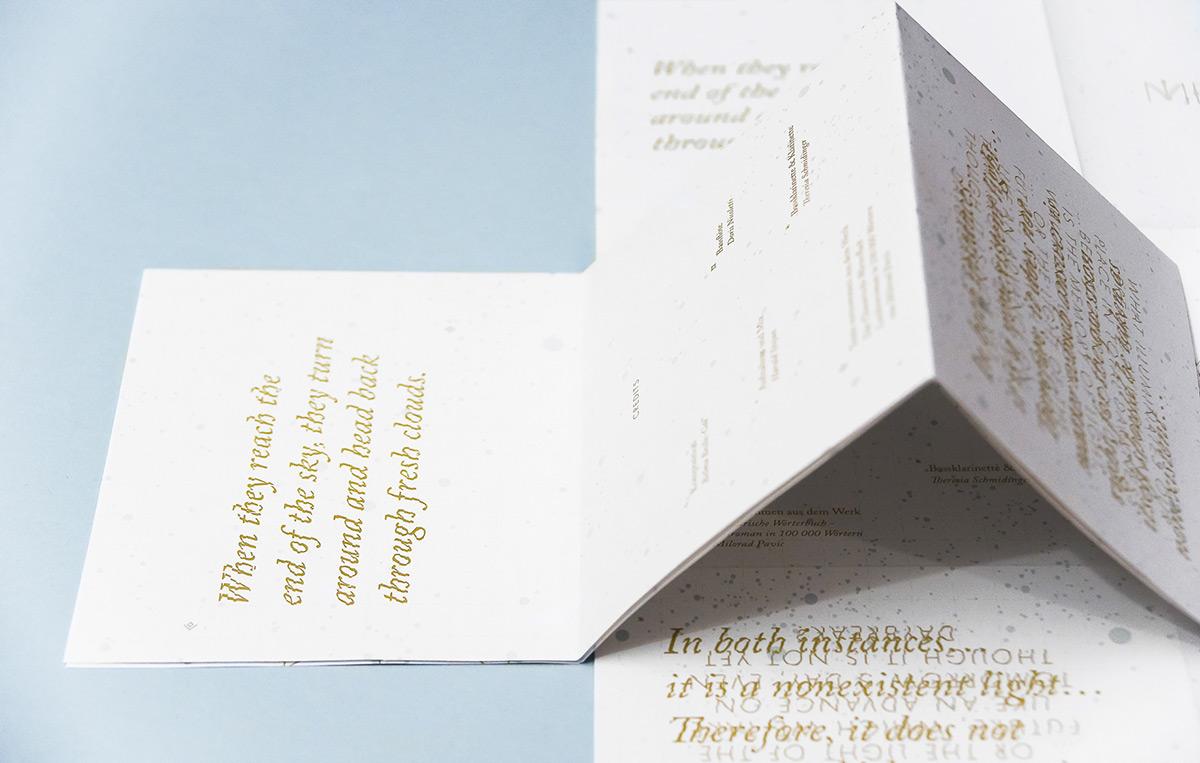 Medamothi Planum CD insert, designed by Stefanie Brückler