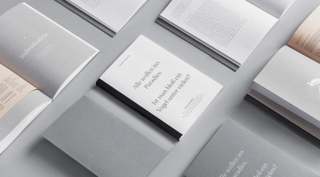 Copies of Stefanie Brückler's BA thesis, opened to different pages