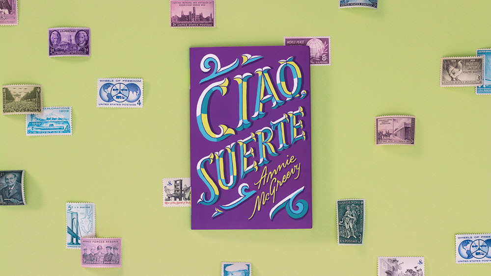 Ciao Suerte book cover, designed by Isabel Urbina Peña
